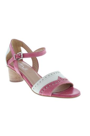 fidji sandales et nu et pieds femme de couleur rose