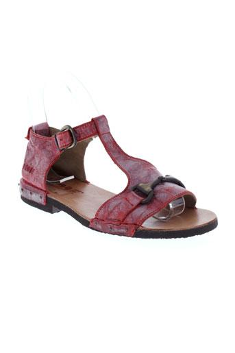 dkode sandales et nu et pieds femme de couleur rouge
