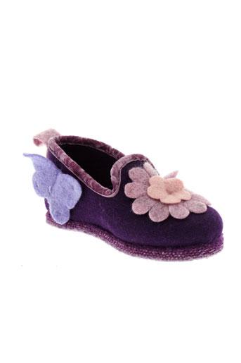 rondinaud pantoufle fille de couleur violet