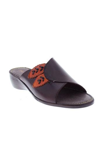 jean de cabani chaussures femme de couleur marron