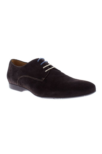 he spring chaussures homme de couleur marron