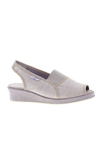 la et cadena sandales et nu et pieds femme de couleur beige