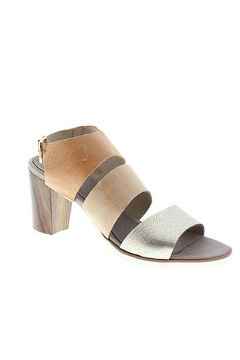 santafe sandales et nu et pieds femme de couleur beige