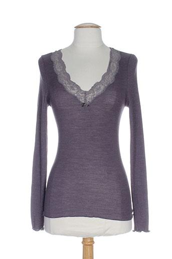 calida tops et caracos femme de couleur violet