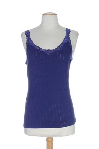 calida lingerie femme de couleur bleu