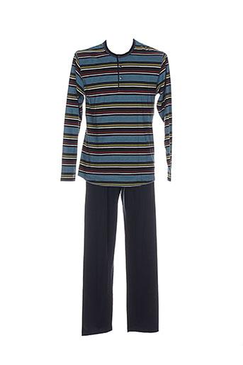 calida pyjamas et 1 homme de couleur bleu