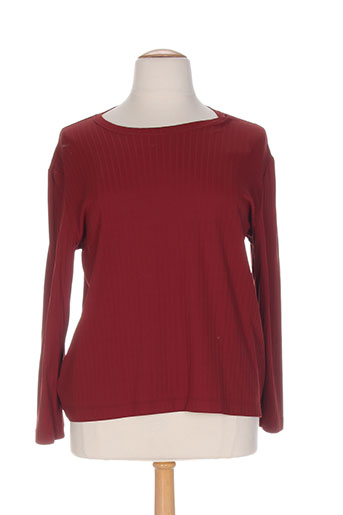 charles guitard t-shirts / tops femme de couleur rouge