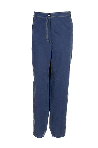 allegro pantalons femme de couleur bleu