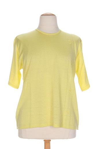 griffon pulls femme de couleur jaune