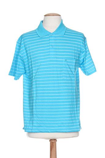 dusen t-shirts homme de couleur bleu