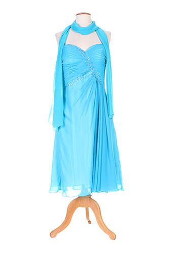 ellebeline robes femme de couleur bleu