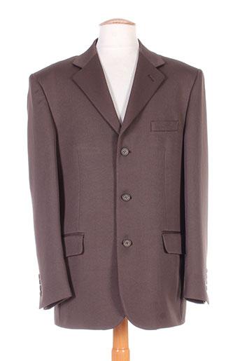 meynal vestes homme de couleur marron