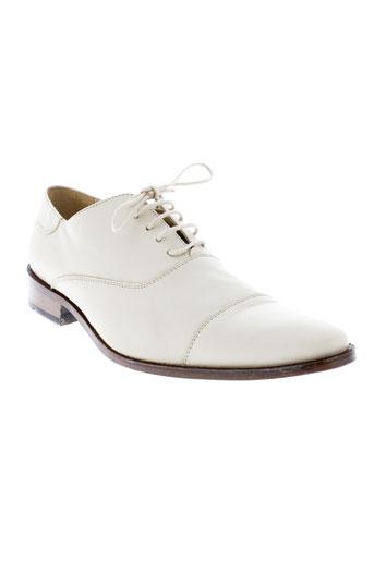 griffe noire chaussures homme de couleur beige