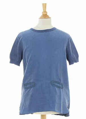 Tunique manches courtes bleu STELLA MCCARTNEY pour fille
