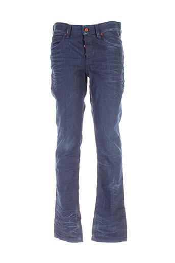 hugo boss jeans homme de couleur bleu