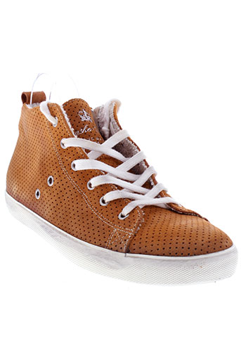 leather crown chaussures homme de couleur orange