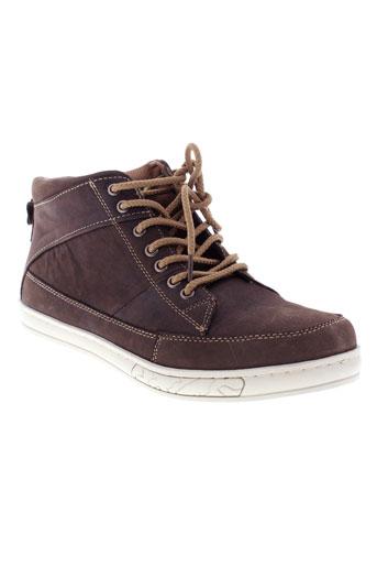 dazawa chaussures homme de couleur marron