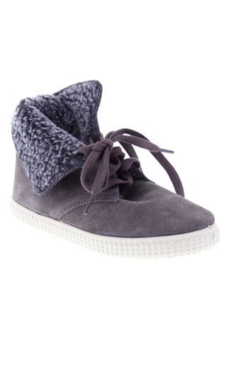 victoria boots garcon de couleur gris