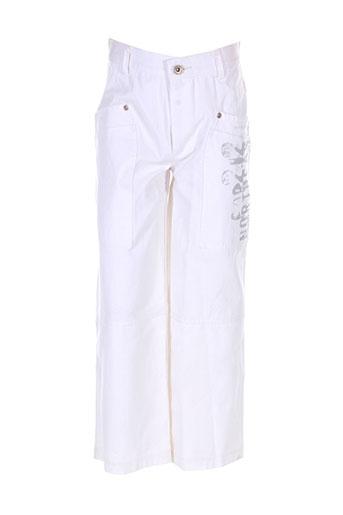alphabet jeans garçon de couleur blanc