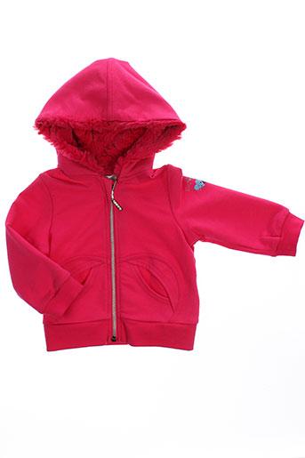 3 et pommes vestes fille de couleur rose (photo)
