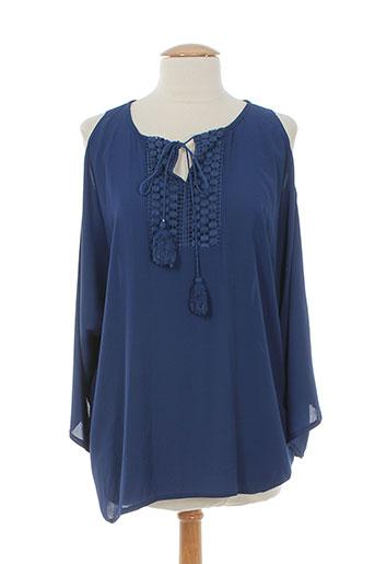 jessie EFFI_CHAR_1 vanessa chemises femme de couleur bleu