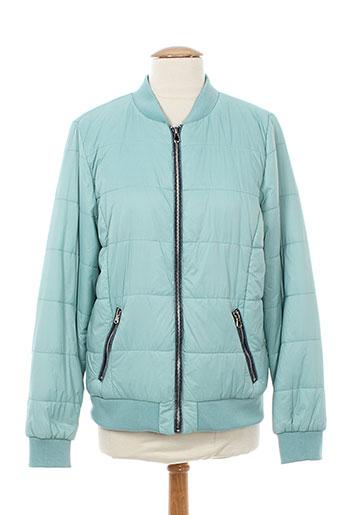 frime manteaux femme de couleur bleu