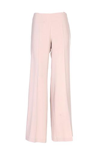 andamio pantalons femme de couleur beige