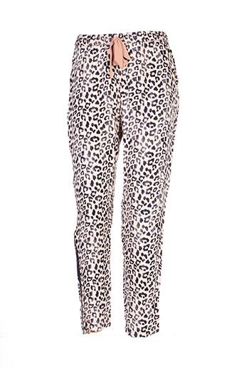 gaudi pantalons femme de couleur beige