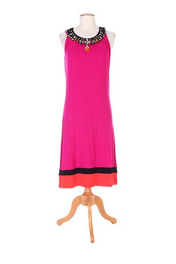 ananke robes et longues femme de couleur rose