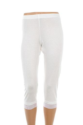 fred sabatier pantalons femme de couleur beige