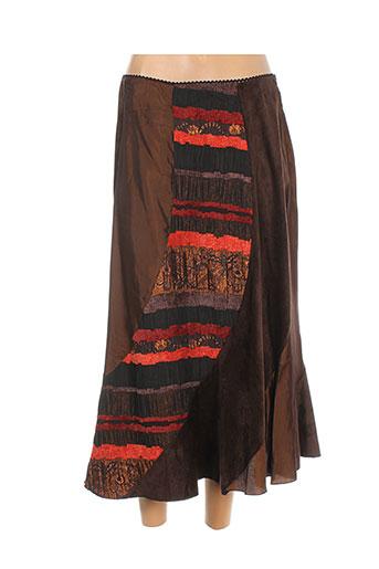elliott jupes femme de couleur marron