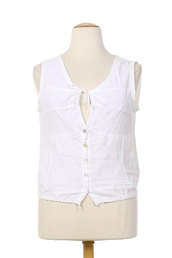 rivieres de lune chemises femme de couleur blanc