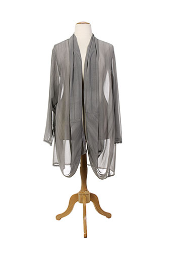 gershon bram vestes femme de couleur gris