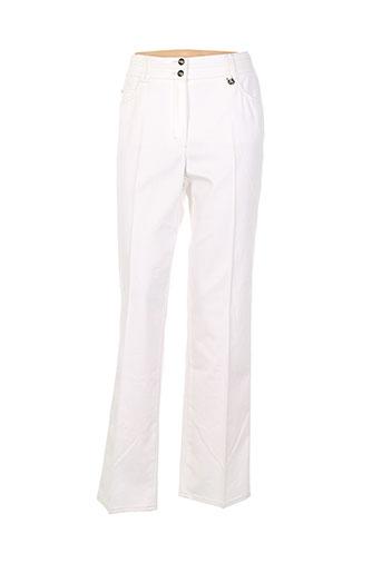 gerry weber pantalons femme de couleur blanc