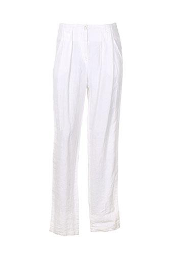 rivieres de lune pantalons femme de couleur blanc
