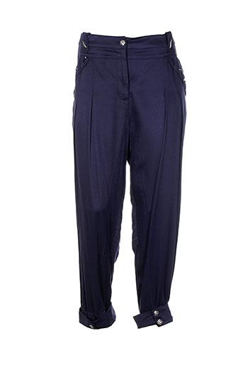 fille des sables pantalons femme de couleur bleu