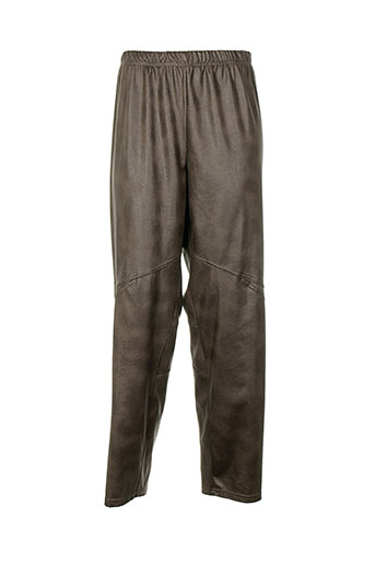 one o one pantalons femme de couleur marron
