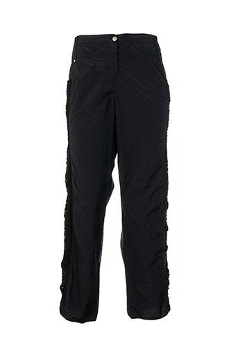 Pantalon casual noir CATY LESCA pour femme