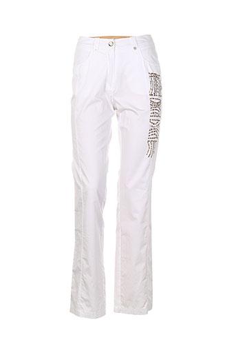 tuzzi pantalons et decontractes femme de couleur blanc