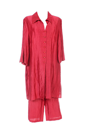 isabell ensemble femme de couleur rouge