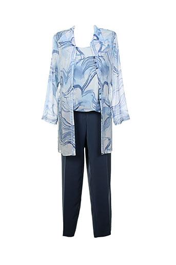 parisiennes pantalon et veste femme de couleur bleu