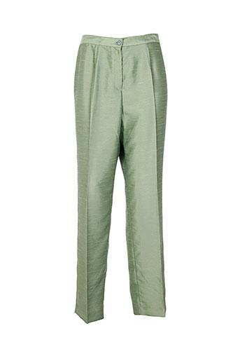 atian pantalons femme de couleur vert