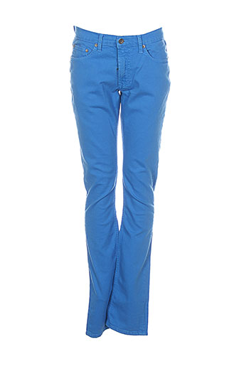 teddy smith pantalons fille de couleur bleu