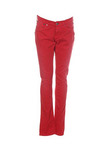 Pantalon casual rouge PEPE JEANS pour fille