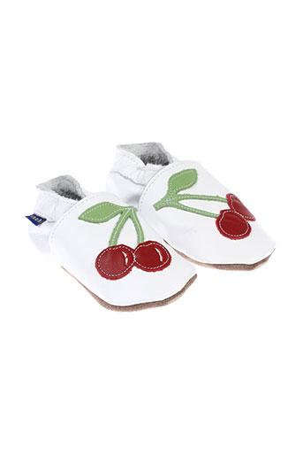 inch et blue chaussons fille de couleur blanc
