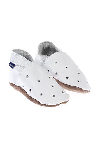 inch blue chaussures enfant de couleur blanc