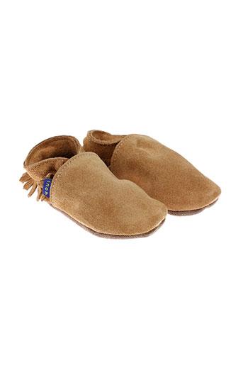 inch blue chaussures enfant de couleur beige