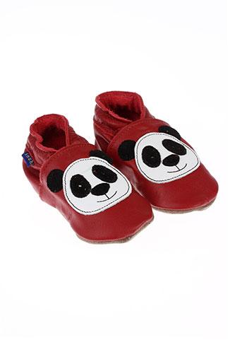 inch et blue chaussons garcon de couleur rouge
