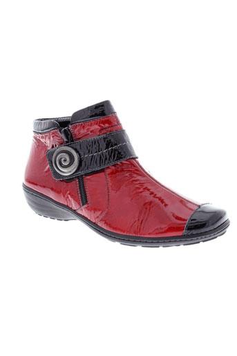 geo et reino boots femme de couleur rouge