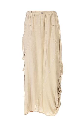 batistame jupes femme de couleur beige
